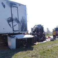 Impactante accidente en Ruta 34: un camionero atrapado
