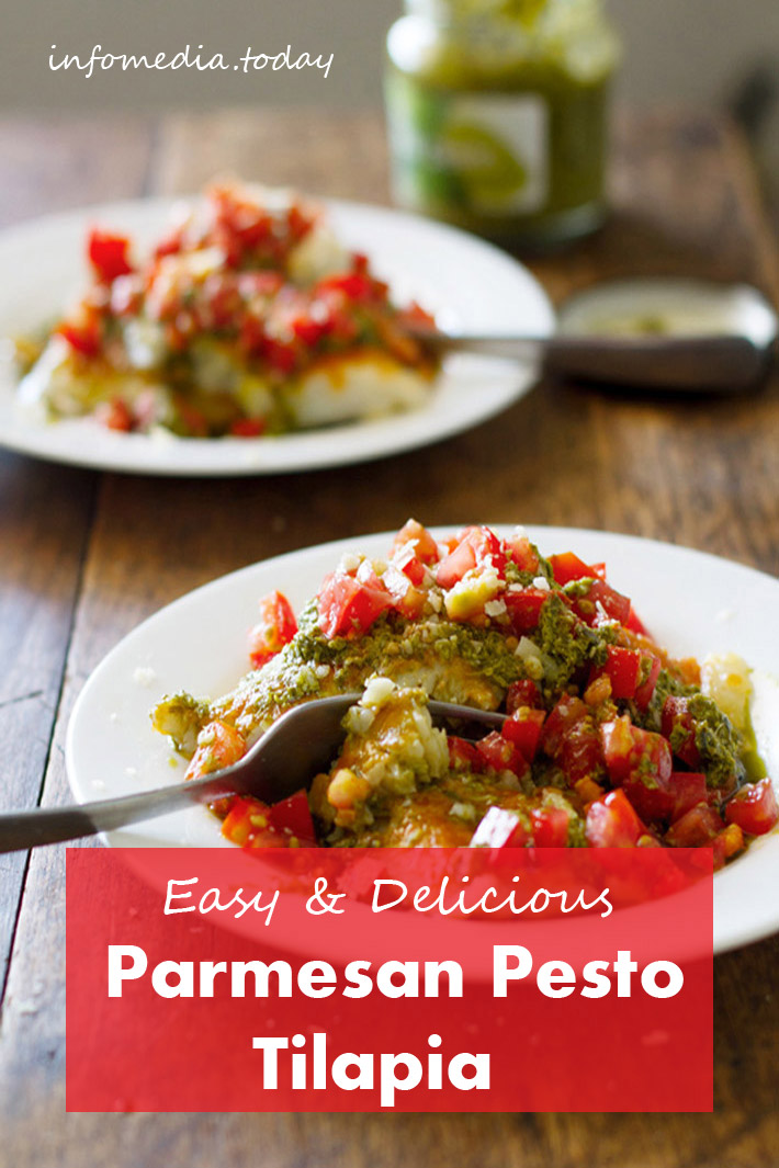 Easy & Delicious Parmesan Pesto Tilapia