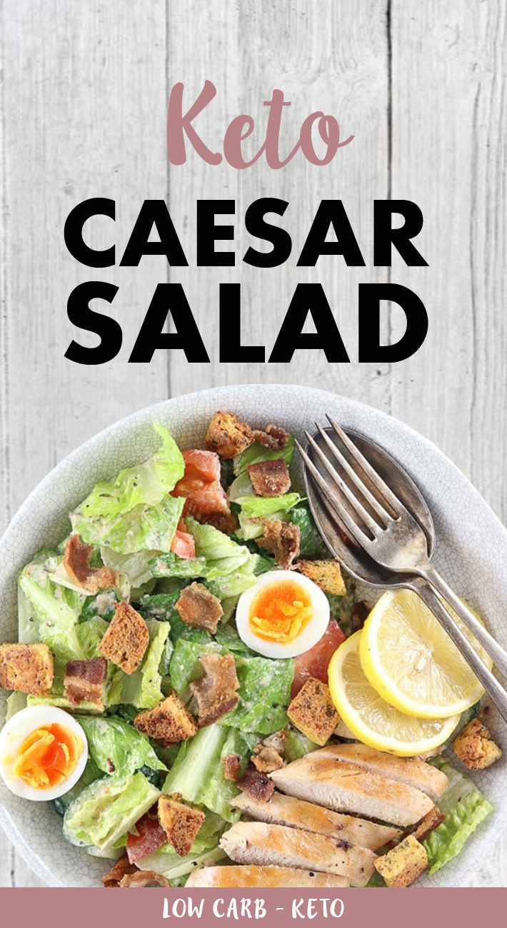 Keto Caesar Salad With Chicken