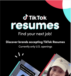 tiktok video resume to find job in the united states