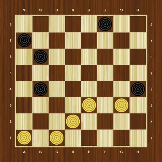 стратегия игры в шашки с агрессивным соперником