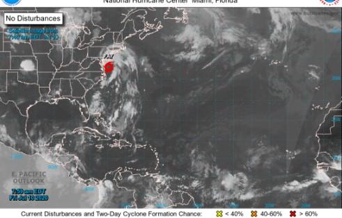 Fay la tormenta tropical tocará tierra en los Estados Unidos hoy o mañana