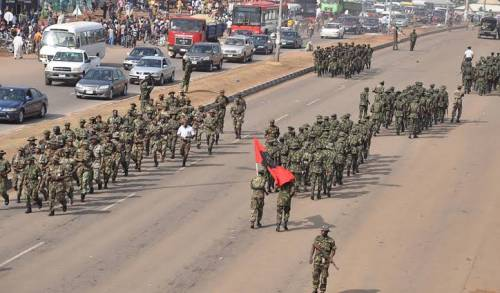 Army Imo Show Of Force