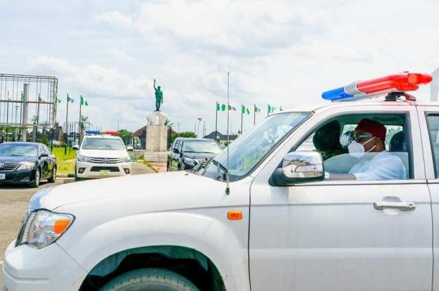 Gov Hope donates security patrol vehicles