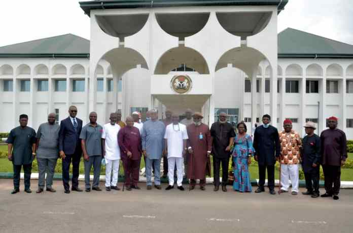 Abia State House of Assembly Receives The Governing Council of Abia State University (Read What Brought Them To The Legislative Chamber)