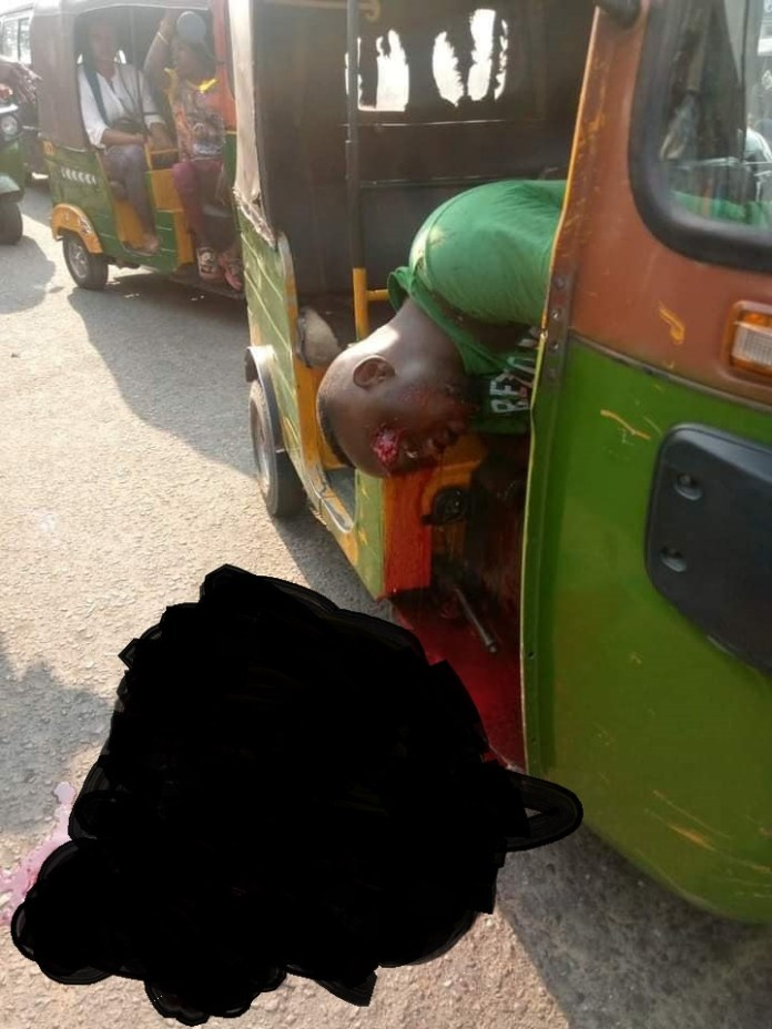 A young male commercial tricycle driver, in his late twenties on Tuesday in Aba, the commercial nerve of Abia State bled to death