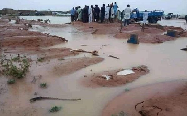 Fear In Yobe State As Flood Washes Off Dead Bodies In A Cemetery