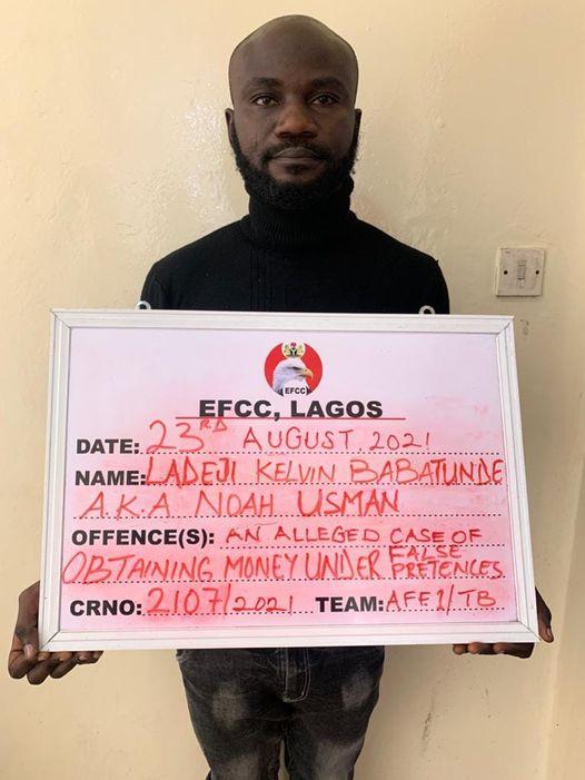 EFCC Arrests Impostor for Allegedly Obtaining N38m from Internet Fraudsters