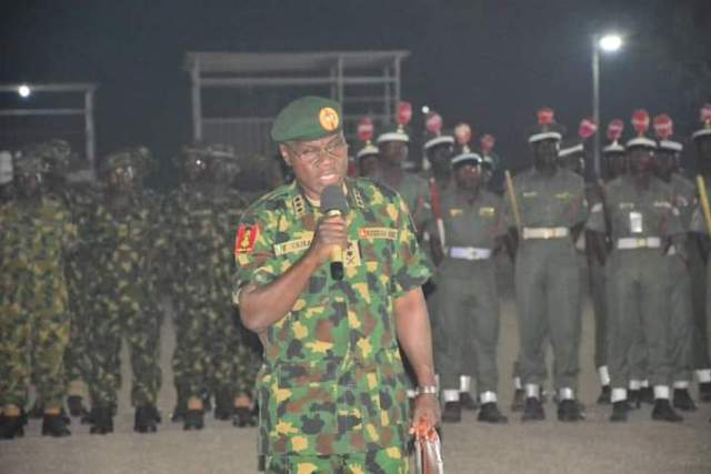 The Chief of Army Staff (COAS), Lieutenant General Faruk Yahaya has charged troops to be alert and vigilant while