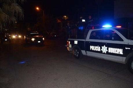 En el percance una unidad de Seguridad Pública quedó dañada.