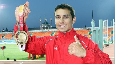 El atleta aguapretense Luis Rivera.