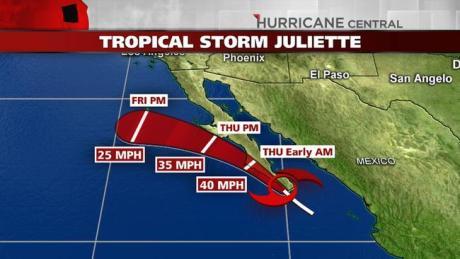 La tormenta se encuentra cerca de costas sonorenses.