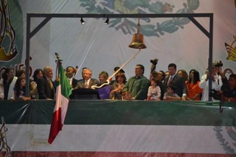 El Presidente Municipal de Nogales durante la ceremonia.