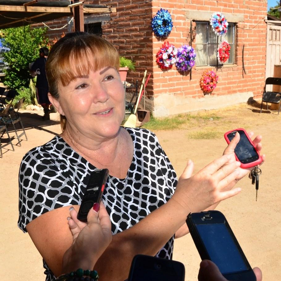 La señora Margarita Araiza, propietaria del lugar.