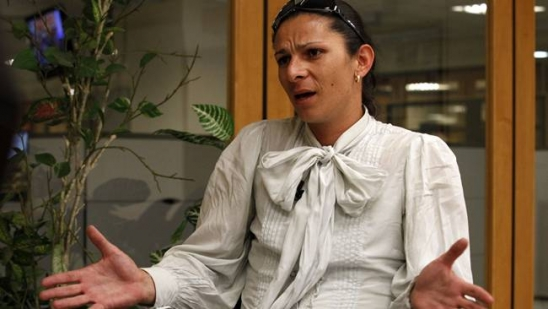La senadora Ana Guevara.