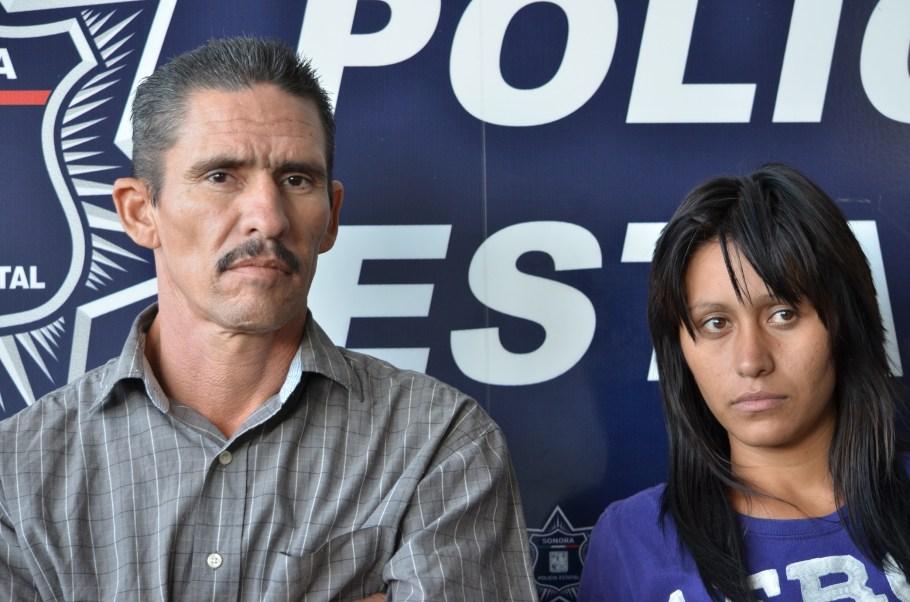 La pareja detenida.