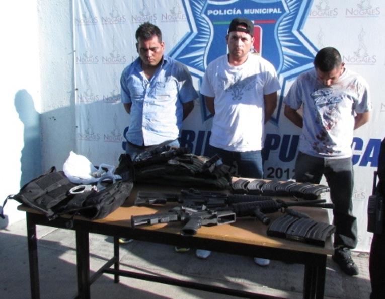 Los tres detenidos.