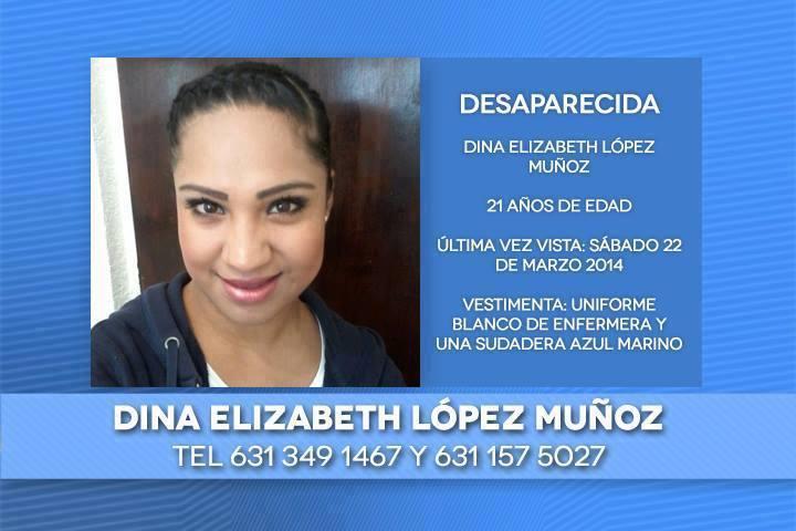Este es el folleto informativo con la información e imagen de la joven desaparecida.