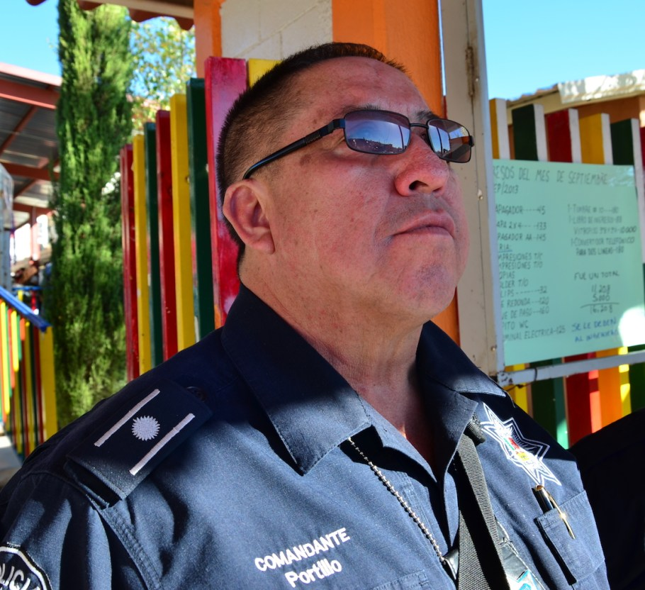 El director de Seguridad Pública Municipal, comandante Miguel Ángel Portillo Lugo.