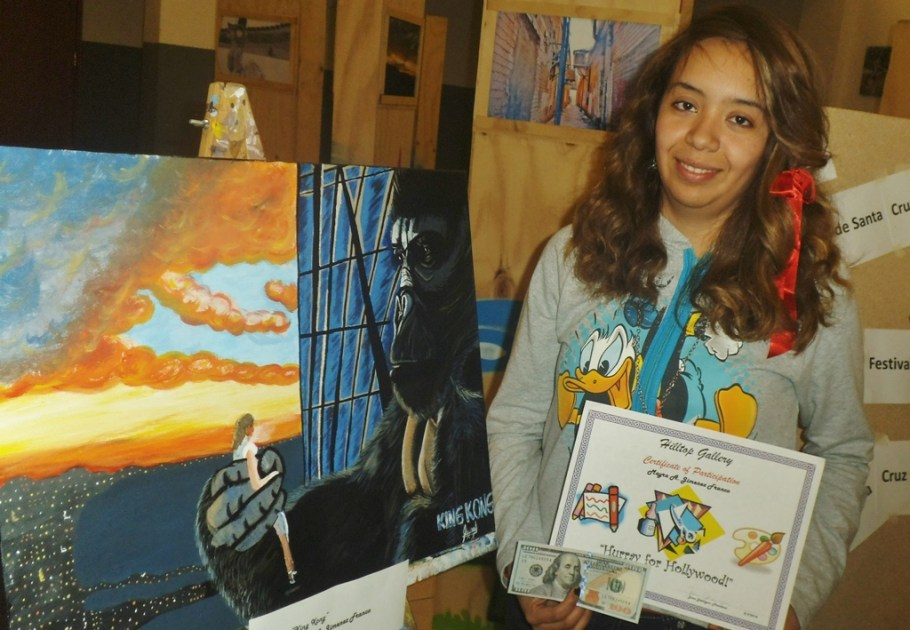 Alumna del Imfoculta gana concurso de pintura en evento binacional.