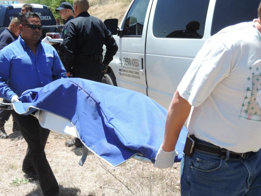 El cuerpo sin vida fue encontrado a 60 kilómetros de distancia de Nogales.