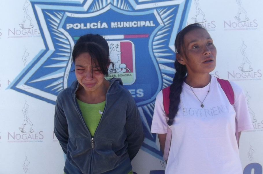 Las dos mujeres detenidas.