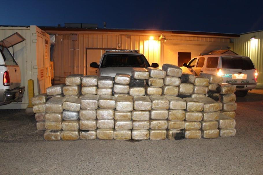Total de paquetes con marihuana decomisados.