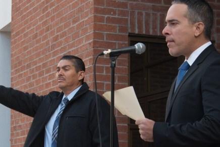 Toma protesta titular de la PGJE a ex jefe policiaco de Nogales como nuevo director de la PEI