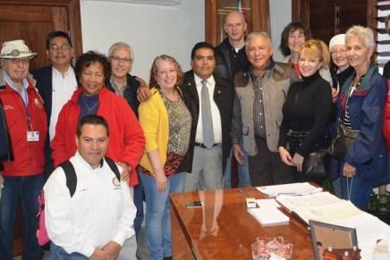 Acompaña Alcalde a Club Rotary International en entrega de bebederos