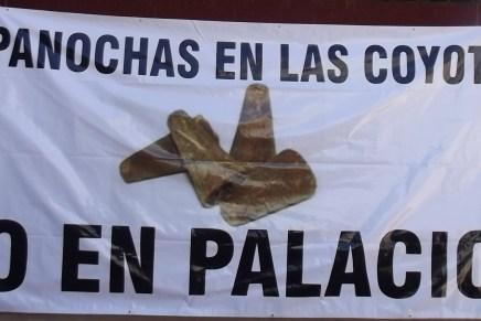 Amanecen mantas en Nogales con mensajes denigrantes para la mujer política