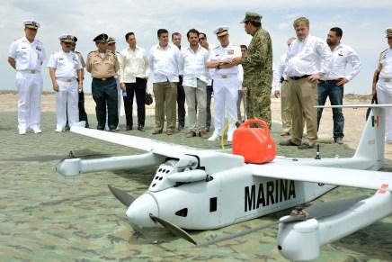 Entregan sistema aéreo no tripulado para proteger a la Vaquita Marina