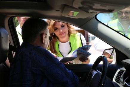 """Volantea"" Gobernadora Claudia Pavlovich orientación a usuarios de carreteras"