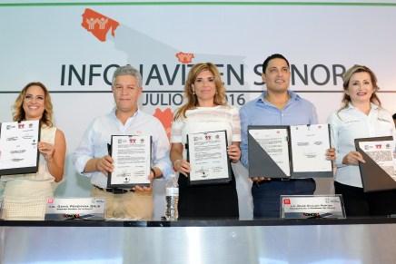 Buscan Gobernadora Pavlovich y Director de INFONAVIT rescate de viviendas abandonadas