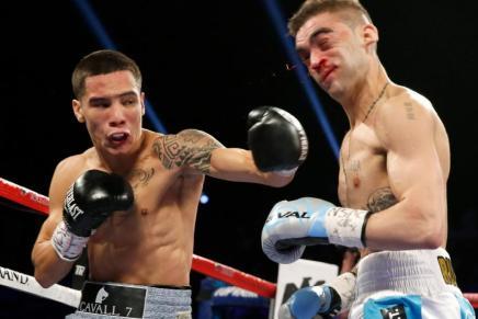 Se corona Oscar Valdez campeón mundial, noquea a Rueda en dos rounds en Las Vegas