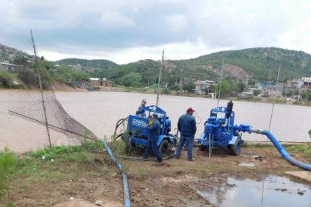 Continúa Oomapas con desfogue de El Represo, identifica UEPC 10 viviendas en riesgo