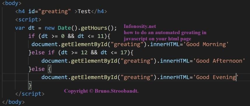 javascript good morning html. - good morning javascript in html - good morning afternoon evening javascript