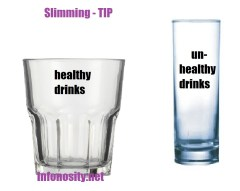 health - healthy drinks versus unhealthy drinks - slimming tip.