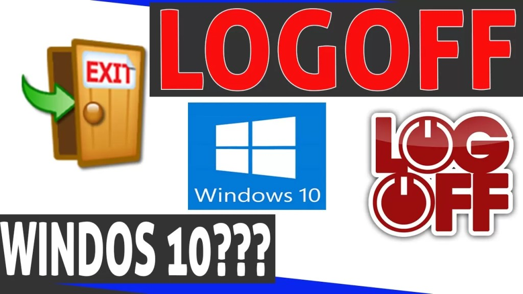 logoff windows 10