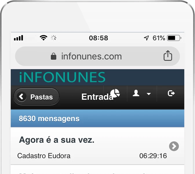 webmail infonunes iphone
