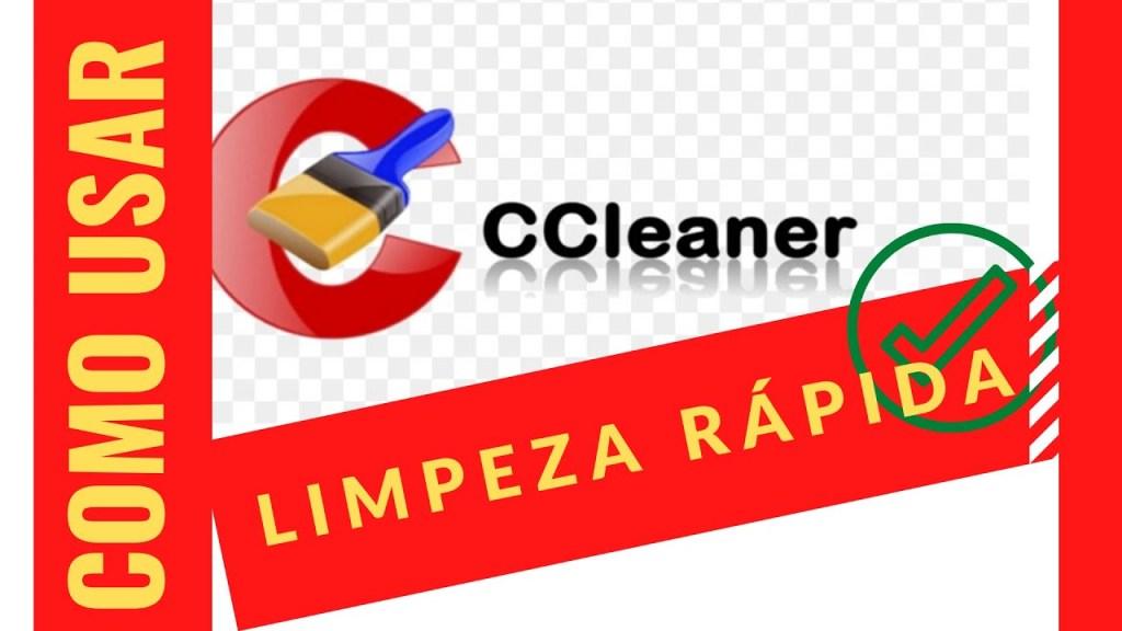 como usar limpeza rápida ccleaner?