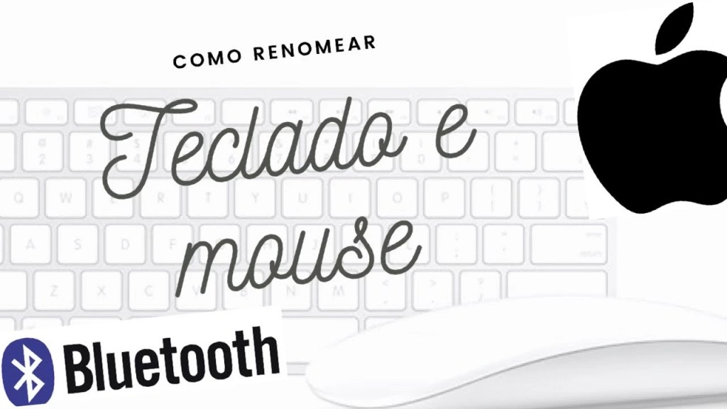como renomear o mouse e o bluetooth?