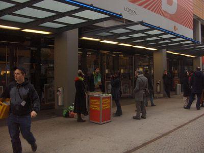 zeigt Foto vom Infostand auf der Berlinale