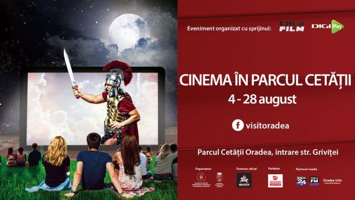 O luna cu filme sub cerul liber. Cinema in Parcul Cetatii intre 4 si 28 august 2016, in Oradea