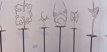 Expozitie de sculptura in fier forjat, a artistului plastic Ion Pop, la Casa Darvas – La Roche