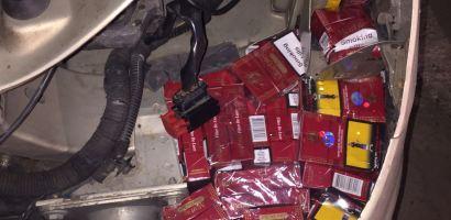 Captura de tigari fara timbru in Vama Salonta, ascunse intr-un Citroen