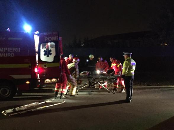 UPDATE: Accident grav pe Centura Oradea. O masina rasturnata in sant, o tanara a decedat la spital. FOTO