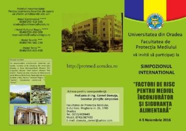 Simpozioane internationale la Facultatea de Protectia Mediului din Oradea