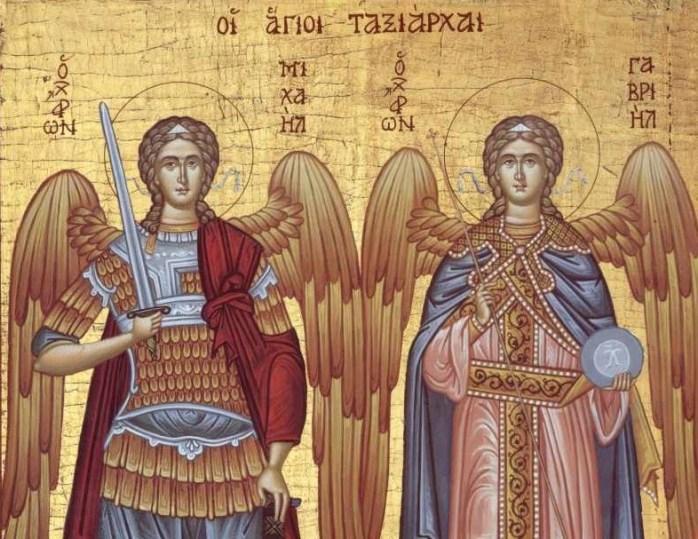 La multi ani celor ce poarta numele Sfintilor Arhangheli Mihail si Gavriil.