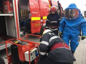 ISU Crisana a efectuat, azi, o simulare de accident chimic la Faist Mekatronic. (FOTO)