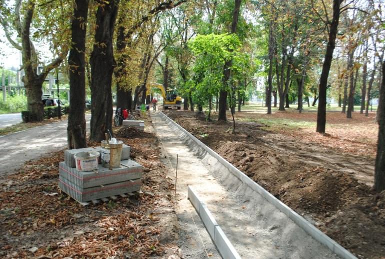 Pista de alergare sintetica Parcul Bratianu Oradea